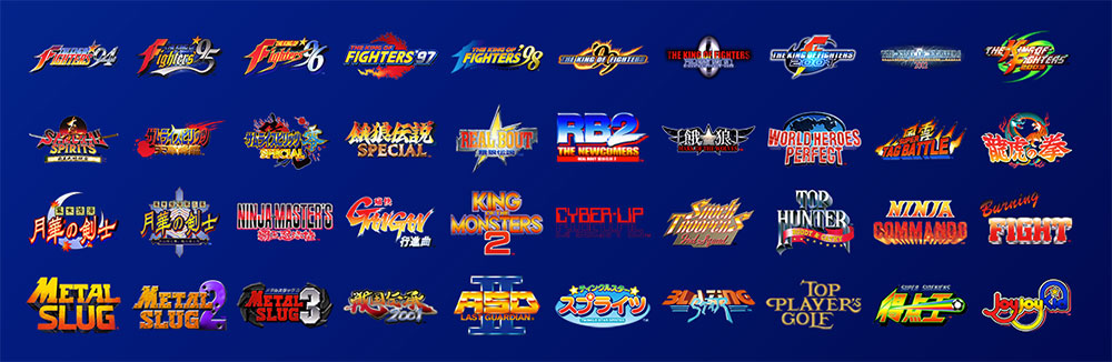 neo geo mini game list