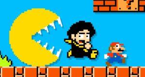 Pacman rincorre Lokman e Super Mario